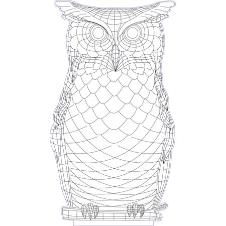 Owl 3d Illusion Vector File For Cnc 3bee Studio