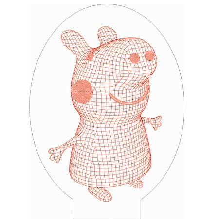Peppa pig 3d illusion vector file for cnc 3bee studio peppa pig 3d illusion vector file voltagebd Images