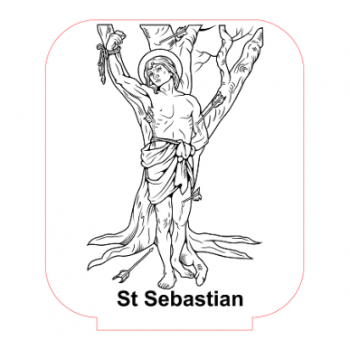 st sebastian coloring pages - photo#4