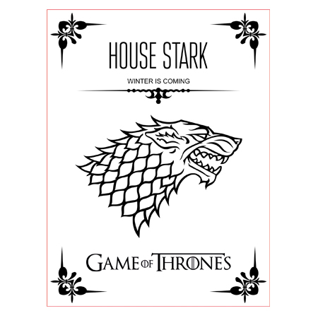 Game Of Thrones House Stark 3d Illusion Lamp Vector File